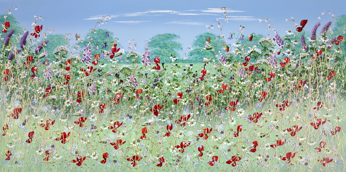 Little Butterflies I by mary shaw -  sized 48x24 inches. Available from Whitewall Galleries